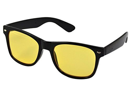 Cool Wayfarer Sunglasses and Yellow Tinted Computer Glasses Eye Strain Perfect for Gaming Anti Glare Night Driving Glasses Or Shooting Anti Blue Light Rays & UV UVB Protection Frames For Women and Men