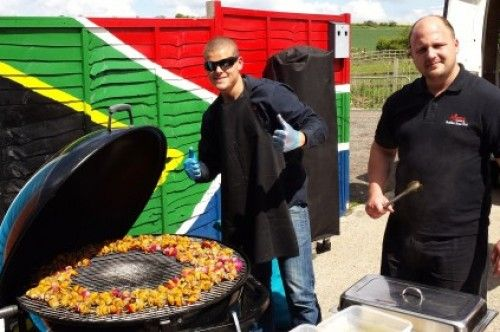 south african style bbq in england. nyama catering