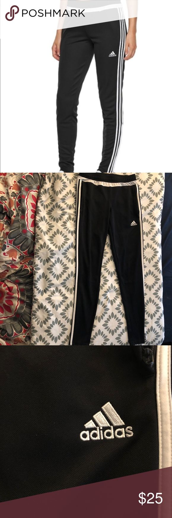 Adidas soccer pants Great condition adidas skinny fit soccer pants! Only worn around the house, great look for the gym or an athleisure look! adidas Pants Track Pants & Joggers