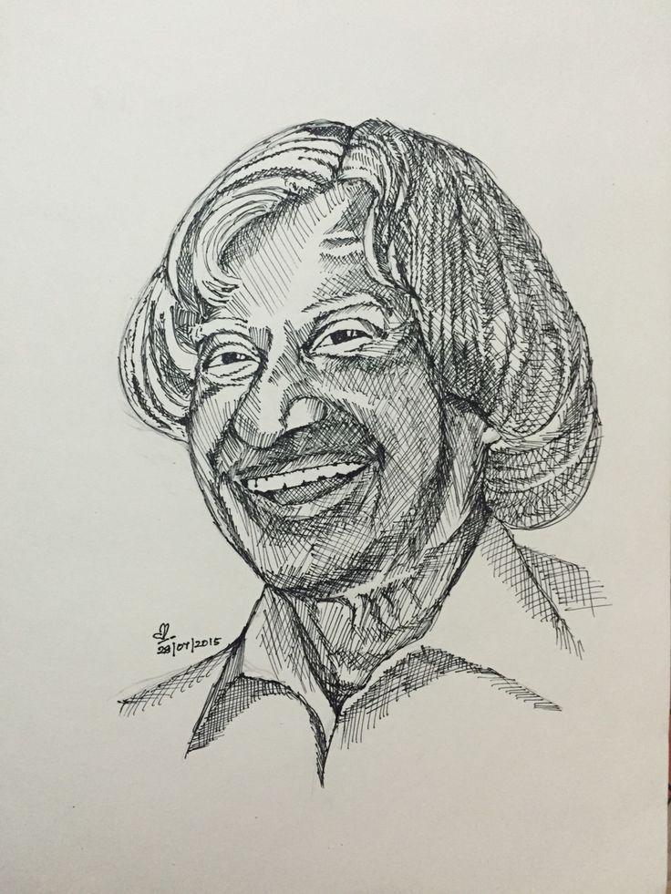 Dr. A. P. J. Abdul Kalam | Sketches | Pinterest