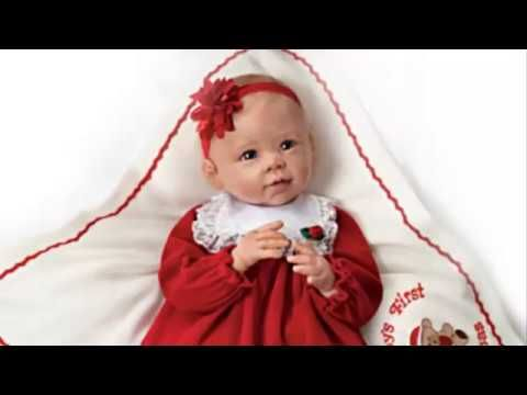 """ Baby's First Christmas"" lifelike baby girl doll"
