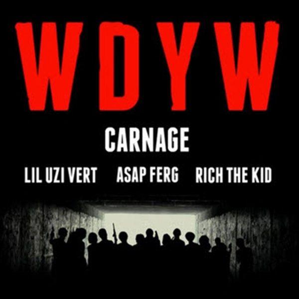 "New Music: DJ Carnage ft Lil Uzi Vert, A$AP Ferg, Rich The Kid | WDYW [Audio]- http://getmybuzzup.com/wp-content/uploads/2015/01/DJ-Carnage-ft-Lil-Uzi-Vert-AAP-Ferg-Rich-The-Kid-WDYW.jpg- http://getmybuzzup.com/dj-carnage-lil-uzi-vert-asap/- DJ Carnage Ft. Lil Uzi Vert, A$AP Ferg, Rich The Kid -WDYW Dj Carnage unleashes a new track featuring Lil Uzi Vert, A$AP Ferg & Rich The Kid entitled ""WDYW.""Enjoy this audio stream below after the jump. Follow me:Get"