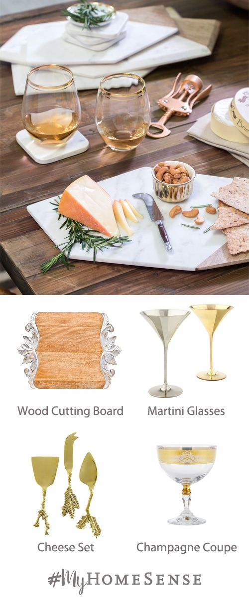 Easy and elegant, cheese plates are the way to go for all your festive gatherings, whether served before dinner as hors d'oeuvres or after to finish off the meal. These stress reducers and crowd pleasers can be found at any HomeSense store (cheese not included!).