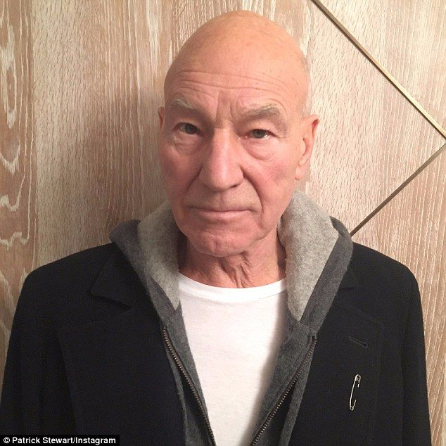 English actor Patrick Stewart joined the safety pin movement and shared a picture of him wearing the petal pin with the hashtag #safetypin