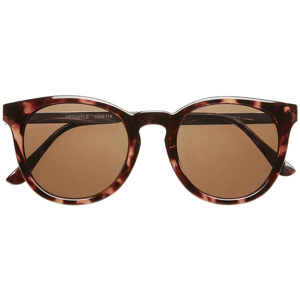 Witchery Abigayle Sunnies (170 BRL) ❤ liked on Polyvore featuring accessories, eyewear, sunglasses, glasses, tortoise, rounded glasses, tortoiseshell glasses, lens glasses, tortoise shell sunglasses and rounded sunglasses