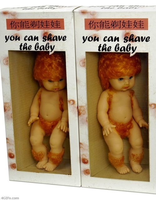 haha you can SHAVE the baby!!