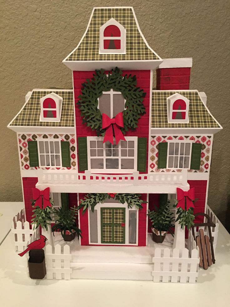 3d svg house Google Search Diy christmas village