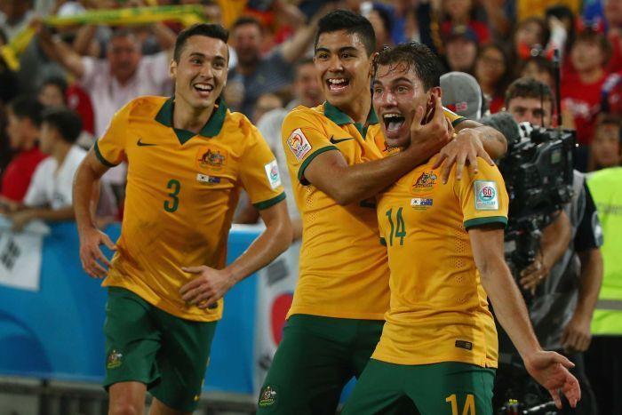 Asian Cup: Australia wins first title  2015    http://www.abc.net.au/news/2015-01-31/australia-socceroos-win-asian-cup/6060038   Socceroos celebrate Troisi's goal in Asian Cup final