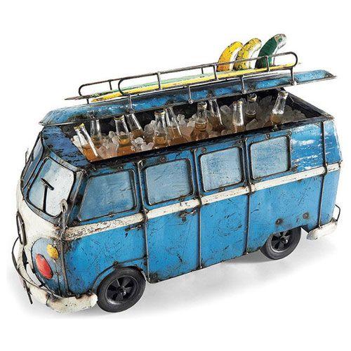 Biplane Drinks Tub Beverage Tub Beach Fun Vintage Vans