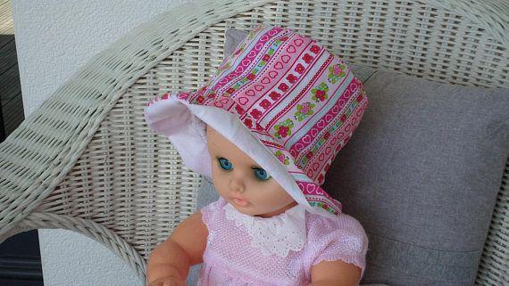 febe2182f9ca chapeau de soleil bébé créateur lin eva coton été rose et   chapeau ...