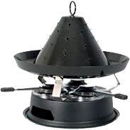Tatarenhut-Fondue aus feuerfestem, emailliertem Stahl Grillvergnügen am Tisch