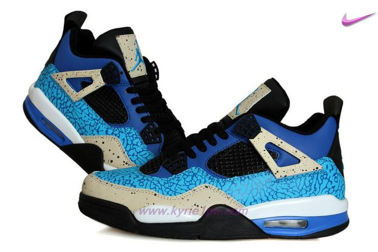 Cookie Monster AIR JORDAN 4 RETRO Blu/Nero/Grigio negozio di scarpe online