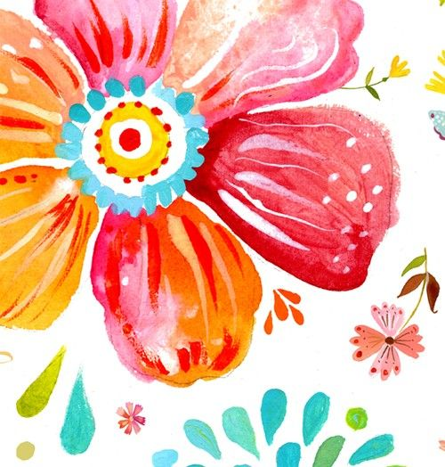 Ramilletes florales arte imprimir Pintura por thewheatfield