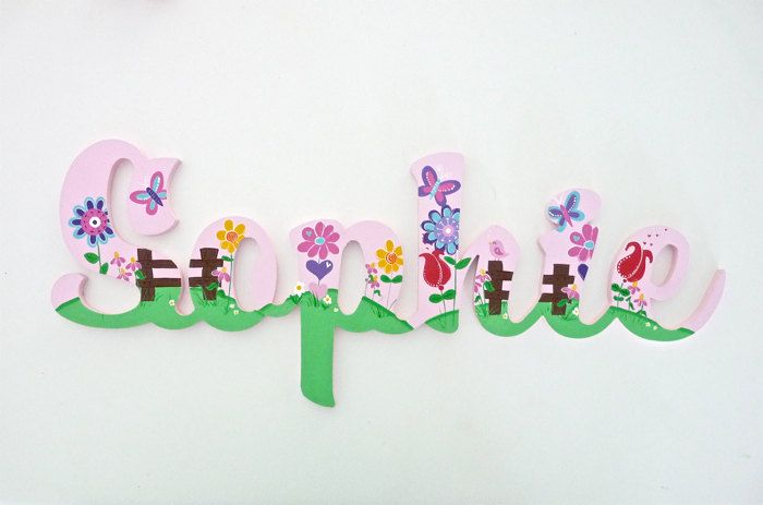 Wooden Name Signs Kids name signs Custom name sign Door