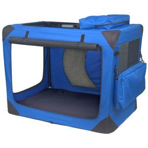 Pet Gear Blue Sky Large Deluxe Soft Dog Crate
