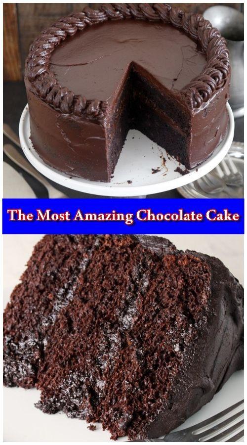 Der erstaunlichste Schokoladenkuchen ist hier. Ich nenne das meine Matilda Torte, weil ich …   – Dessert Recipes