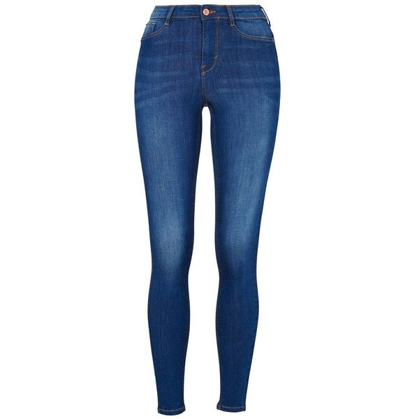 Molly highwaist jeans ($34) ❤ liked on Polyvore featuring jeans, highwaisted jeans, jeggings jeans, blue jeans, high rise jeggings and blue jeggings