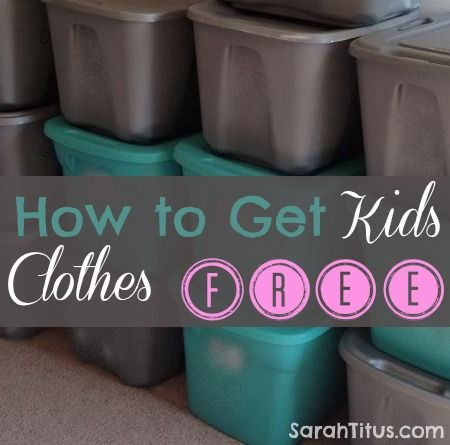 How to Get Kids Clothes Free | SarahTitus.com ~ Saving Money Never Goes Out of Style