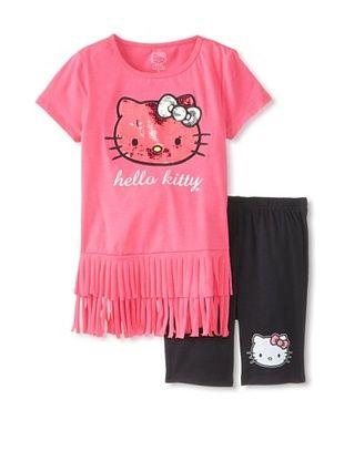 45% OFF Hello Kitty Girl's Tunic & Tight Set (Fuchsia Purple)
