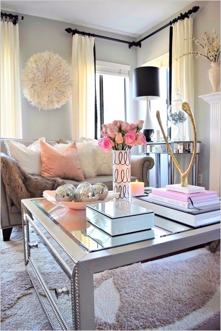 40 Cute Girly Apartment Decor Ideas Zyhomy Pink Home Decor Romantic Living Room First Apartment Decorating