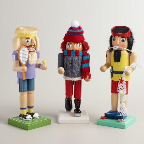 One of my favorite discoveries at WorldMarket.com: Recreational Sports Nutcrackers, Set of 3