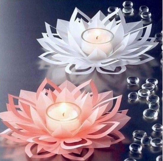 Papier Lotus Flower Votives