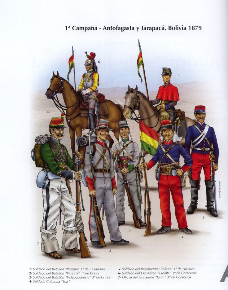 tropa boliviana y chilena