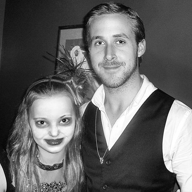 one of the strangest throwbacks i have; 13 year old me and ryan gosling. i performed with his band @deadmansboness in a club seattle before i was an actor. yes; i have ghost makeup on. yes; i plucked all my eyebrows off. no; i have not grown one inch in 7 years. legends only