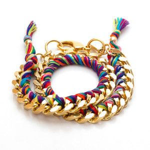 Double Wrap Bracelet Carnival, $96, now featured on Fab.