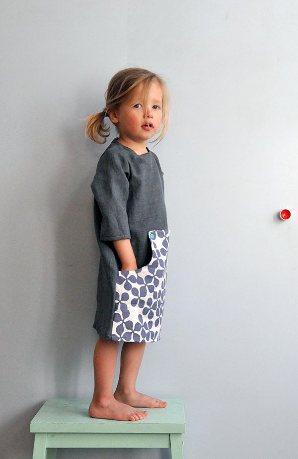 Kleid z.T. aus Bügelbrettbezug / Dress partly made from ironing-board cover / Upcycling