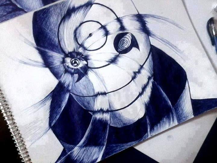 Madara Drawing In Pencil Obito- cool!   Naruto ...