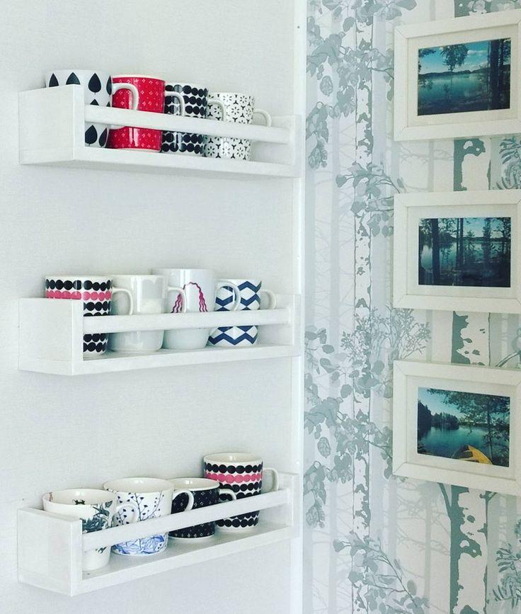 Eigentlich sollte ich mir so langsam Gedanken ums Koffer packen machen doch heute hat noch eines der letzten Teile den Platz im Birkenwald gefunden. Schließlich wollen die hübschen Tassen nicht im Schrank stehen.   Den Birkenwald findet ihr nochmal hier: http://ift.tt/1PX5SXT  #tassen #marimekko #decor #interior #instadecor #einrichtungsidee #einrichtung #deko #dekoration #finnisch #finnish #DIY #ikea #ikeahack #ikeahacks