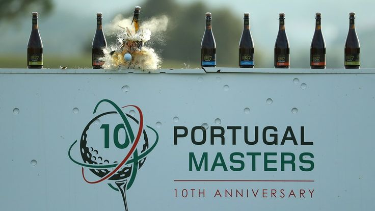 """The Bottle Smash Challenge ;)   Via European Tour   21/10/2016 """"To celebrate the 10th anniversary of the Portugal Masters Golfe, we thought we would mark the occasion with a little challenge on the driving range at Victoria Clube de Golfe. Ten bottles. Three players. One Drone. Let The Games Begin!  +info: http://bit.ly/2dC8Rms #Portugal"""