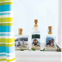 Display real size picture of How to make a bottled picture frame