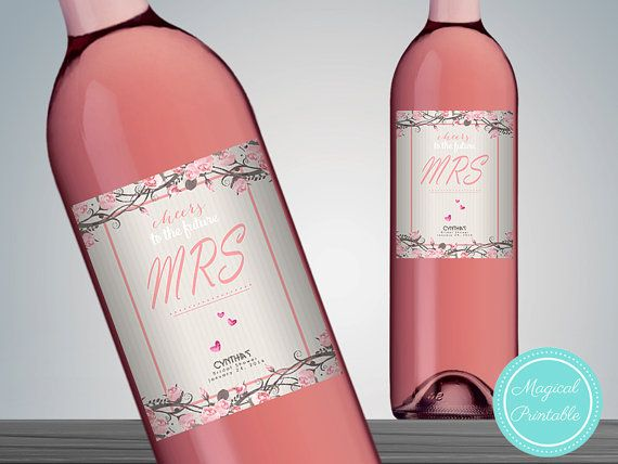 Printable Wine Bottle Labels Printable Wine Bottle by BrideandBows