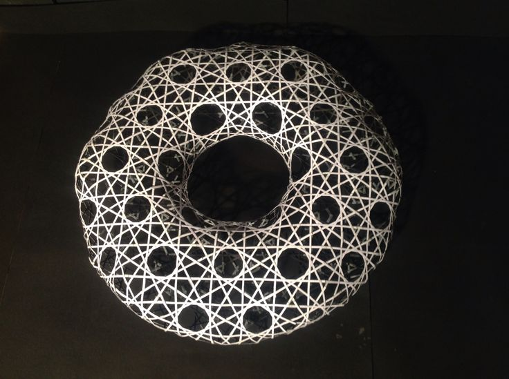 Girih - an Islamic decorative art form used in architecture and handicrafts, consisting of geometric lines to form interlaced structures