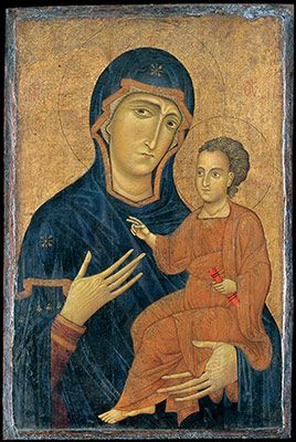 Sinai icon of the Mother of God with Christ.