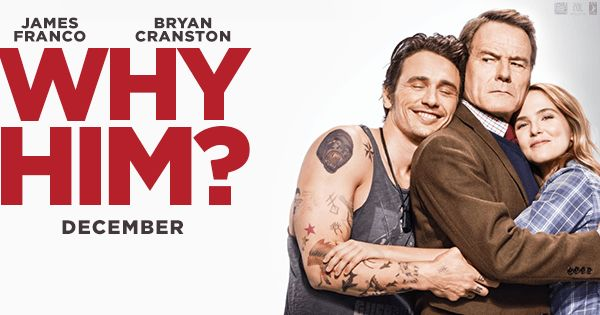 Why Him, A Movie Review James Franco is epic in why him read my review and watch the trailer on lisasaurus.com today