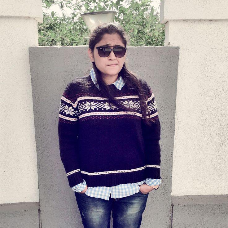 Winter fashion... #Winter #Sweater #Shirt