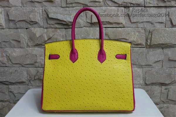 2016 Hermès Birkin 35CM sac autruche jaune & Rose en cuir or BK351 magasin en ligne jusqu'à 70% relatives au réduction, shopping facile et livraison gratuite.#handbags #design #totebag #fashionbag #shoppingbag #womenbag #womensfashion #luxurydesign #luxurybag #luxurylifestyle #handbagsale #hermes #hermesbag #hermesparis