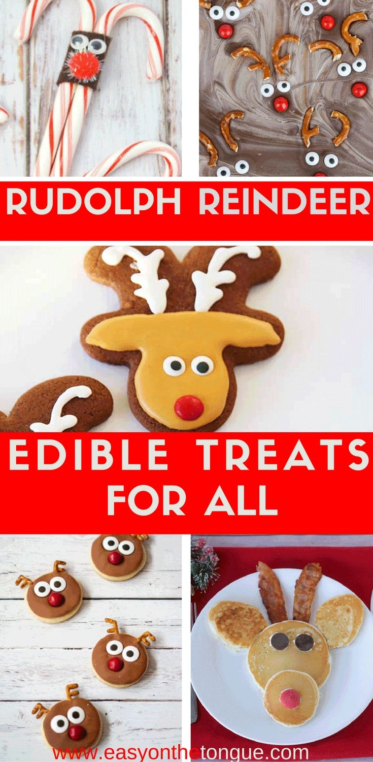 I never realised just what a variety of Rudolph the Red-Nosed Reindeer treats you can make. Let me tell you if you stick 2 eyes, a red nose and antlers on