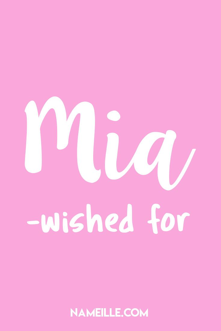 50 Beautiful Italian Baby Names for Girls I Mia I Nameille.com