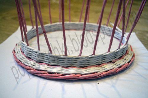 Крышка для шкатулки из бумажной лозы. МК