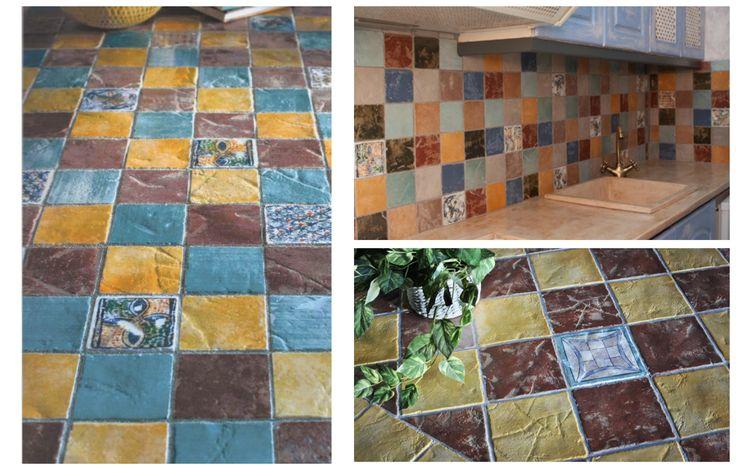 Rustic Wall Tile Floor ceramicist 9.6 x 9.6cm