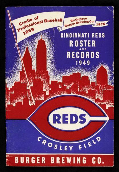 Front of Program look???  Cincinnati Reds Team | Lot Detail - 1949 Cincinnati Reds Roster & Records Crosley Field
