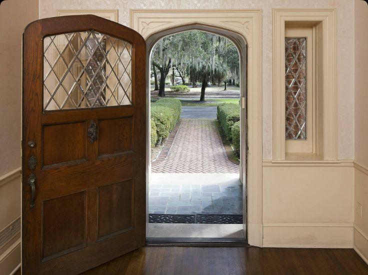 Tudor door -- 2902 Abercorn St., Savannah, GA