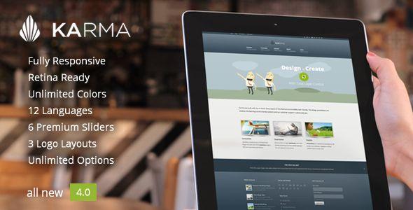 Karma - Responsive WordPress Theme - Corporate WordPress $55