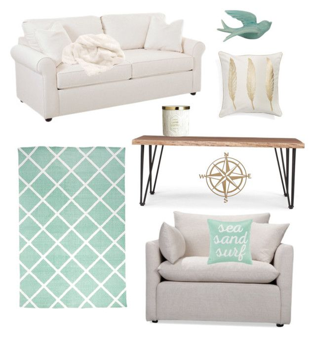"""""""The cottage is ready"""" by amanda-j-burke on Polyvore featuring interior, interiors, interior design, home, home decor, interior decorating, Howard Elliott, Levtex, WALL and Volo Design"""