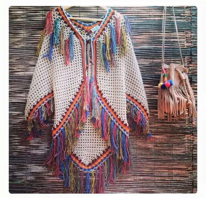 Indian poncho vest