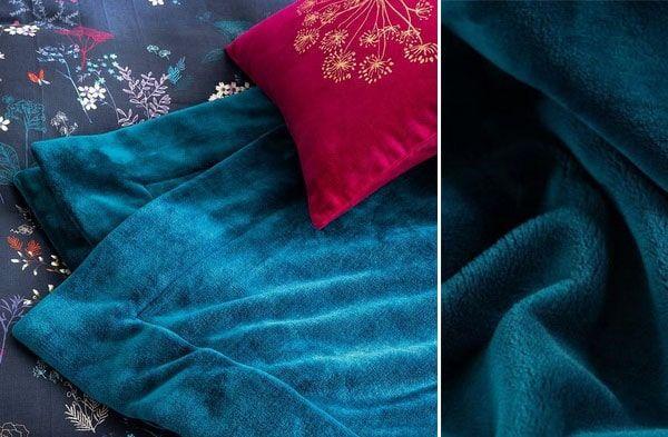 Plaid Bleu Canard Les Plus Beaux Modeles Pour Deco Interieure Plaid Bleu Bleu Canard Et Bleu